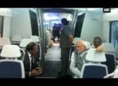 News video: PM Modi takes Delhi Metro ride